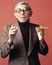 Photo of Comedian George Burns At Age 91 Pitching Batteries For Ray O Vac