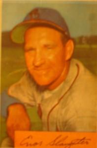 Original Baseball Card 1952 Bowman New York Yankees OF Enos Slaughterq