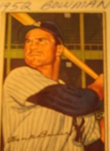 Original Baseball Card 1952 Bowman New York Yankees OF Hank Bauer