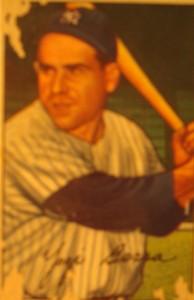 Original Baseball Card 1952 New York Yankees C Yogi Berra