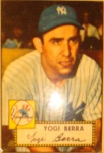 Original Baseball Card 1952 Topps New York Yankees C Yogi Berra