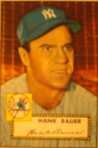 Original Baseball Card 1952 Topps New York Yankees OF Hank Bauer