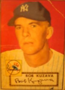 Original Baseball Card 1952 Topps New York Yankees P Bob Kuzava
