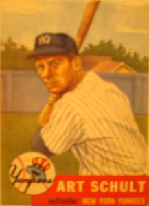Original Baseball Card 1953 New York Yankees IF Art Schult