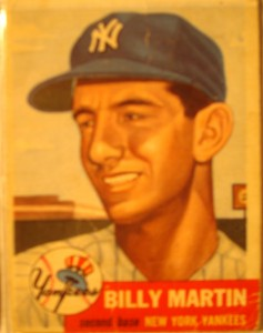 Original Baseball Card 1953 Topps New York Yankees 2B Billy Martin