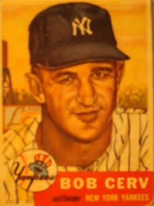 Original Baseball Card 1953 Topps New York Yankees OF Bob Cerv