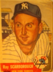 Original Baseball Card 1953 Topps New York Yankees P Ray Scarborough
