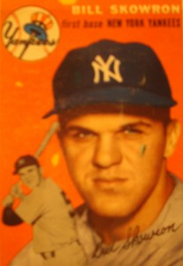 Original Baseball Card 1954 Topps New York Yankees 1B Bill Skowron