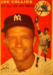 Original Baseball Card 1954 Topps New York Yankees 1B Joe Collins