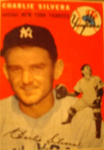 Original Baseball Card 1954 Topps New York Yankees C Charlie Silvera