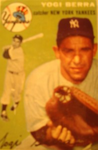 Original Baseball Card 1954 Topps New York Yankees C Yogi Berra