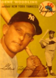 Original Baseball Card 1954 Topps New York Yankees OF Gene Woodling