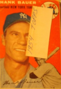 Original Baseball Card 1954 Topps New York Yankees OF Hank Bauer