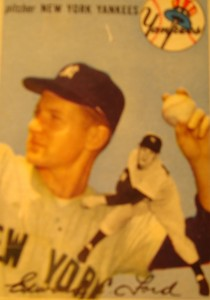 Original Baseball Card 1954 Topps New York Yankees P Whitey Ford