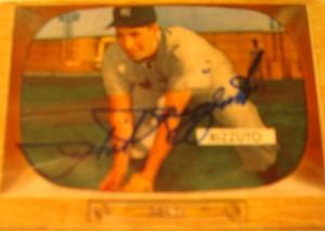 Original Baseball Card 1955 Bowman Autograph New York Yankees SS Phil Rizzuto