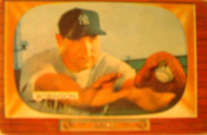 Original Baseball Card 1955 Bowman New York Yankees 1B Eddie Robinson