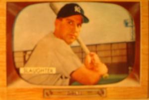 Original Baseball Card 1955 Bowman New York Yankees Of Enos Slaughter
