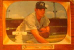Original Baseball Card 1955 Bowman New York Yankees P Bob Turley