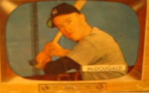 Original Baseball Card 1955 Bowman New York Yankees SS Gil McDougald