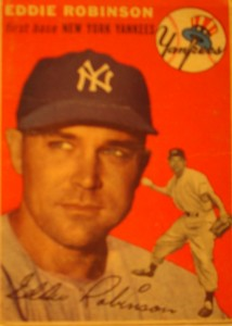 Original Baseball Card 1955 Topps New York Yankees 1B Eddie Robinson