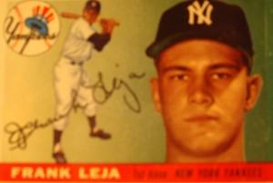 Original Baseball Card 1955 Topps New York Yankees 1B Frank Leja