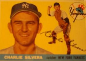 Original Baseball Card 1955 Topps New York Yankees C Charlie Silvera