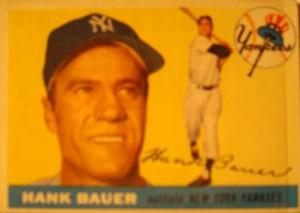 Original Baseball Card 1955 Topps New York Yankees OF Hank Bauer
