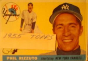Original Baseball Card 1955 Topps New York Yankees SS Phil Rizzuto