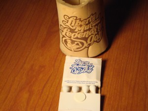 Official Beer Koos-zie & Matches Souveniers 1978 1st Liberty of Mutual Legends of Golf Tournament