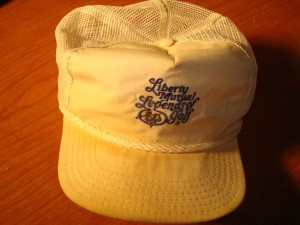 Official Cap 1978 Liberty Mutual Legends of Golf Tournament from Onion Creek Country Club, Austin, TX won by Don January