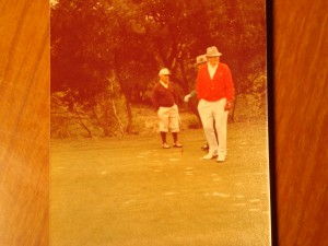 Original Picture 1978 1st Liberty of Mutual Legends of Golf Tournament - Coach Bear Bryant & 1935 Masters Champion Gene Sarazen with Sam Snead in the background