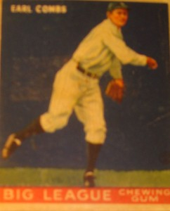 Original Baseball Card 1937 New York Yankees Hall of Fame Pitcher Earl Combs