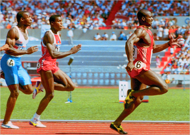 Photo of Prelude To 1980 Moscow Olympics With Mens 100m USA Carl Lewis VS Canadian Ben Johnson