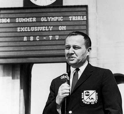 Photo of Jim McKay Compares Womens Gymnastics In 1968 To 1978 In Vault & Floor Exercise & Uneven Bars & Beam