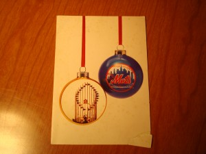 MLB - Official Christmas Card of the 1986 World Champion New York Mets sent to the Gang at Madison Square Garden, The Sports Place in Austin, TX at 302 E. 6th Street