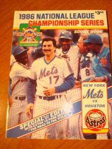 MLB - Official Program 1986 National League Championship Series with New York Mets (Coach Davey johnson) vs Houston Astros (Mgr Hal Lanier)