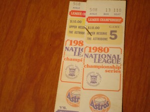 MLB - Official Tickets 1980 National League Championship - Houston Astros (Mgr. Bill Virdon) vs Philadelphia Phillies (Mgr. Dallas Green)