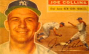 Original Baseball Card 1956 New York Yankees 1B Joe Collins