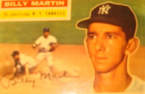 Original Baseball Card 1956 Topps New York Yankees 2B Billy Martin