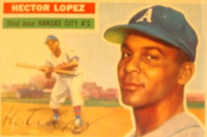Original Baseball Card 1956 Topps New York Yankees 3B Hector Lopez