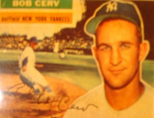 Original Baseball Card 1956 Topps New York Yankees OF Bob Cerv