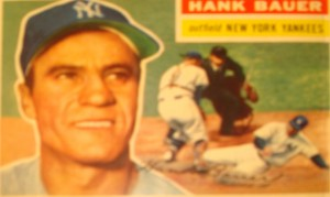 Original Baseball Card 1956 Topps New York Yankees OF Hank Bauer