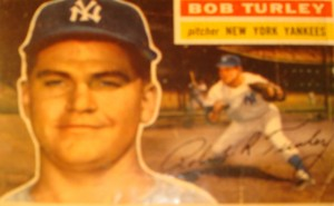 MLB - Original Baseball Card 1956 Topps New York Yankees Pitcher Bob Turley