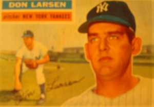Original Baseball Card 1956 Topps New York Yankees Pitcher Don Larsen