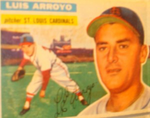 Original Baseball Card 1956 Topps New York Yankees P Luis Arroyo