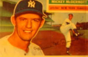 Original Baseball Card 1956 Topps New York Yankees P Mickey McDermott
