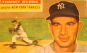 Original Baseball Card 1956 Topps New York Yankees P Tommy Byrne