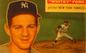 Original Baseball Card 1956 Topps New York Yankees P Whitey Ford