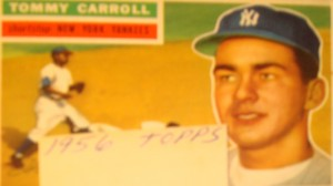Original Baseball Card 1956 Topps New York Yankees SS Tommy Carroll