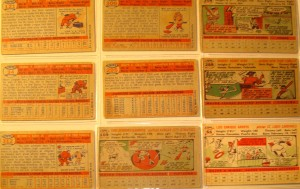 Original Baseball Cards Backside 1956 New York Yankees - 9 Players